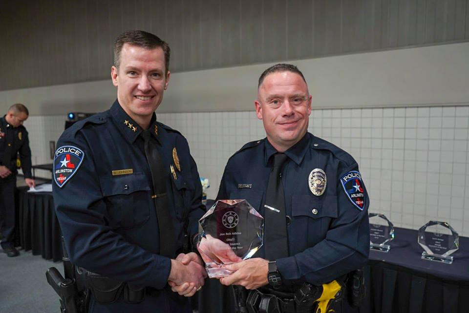 police gets his award